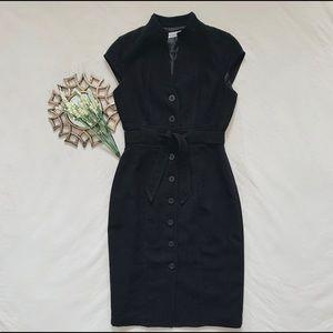 CALVIN KLEIN || Women's button down black dress